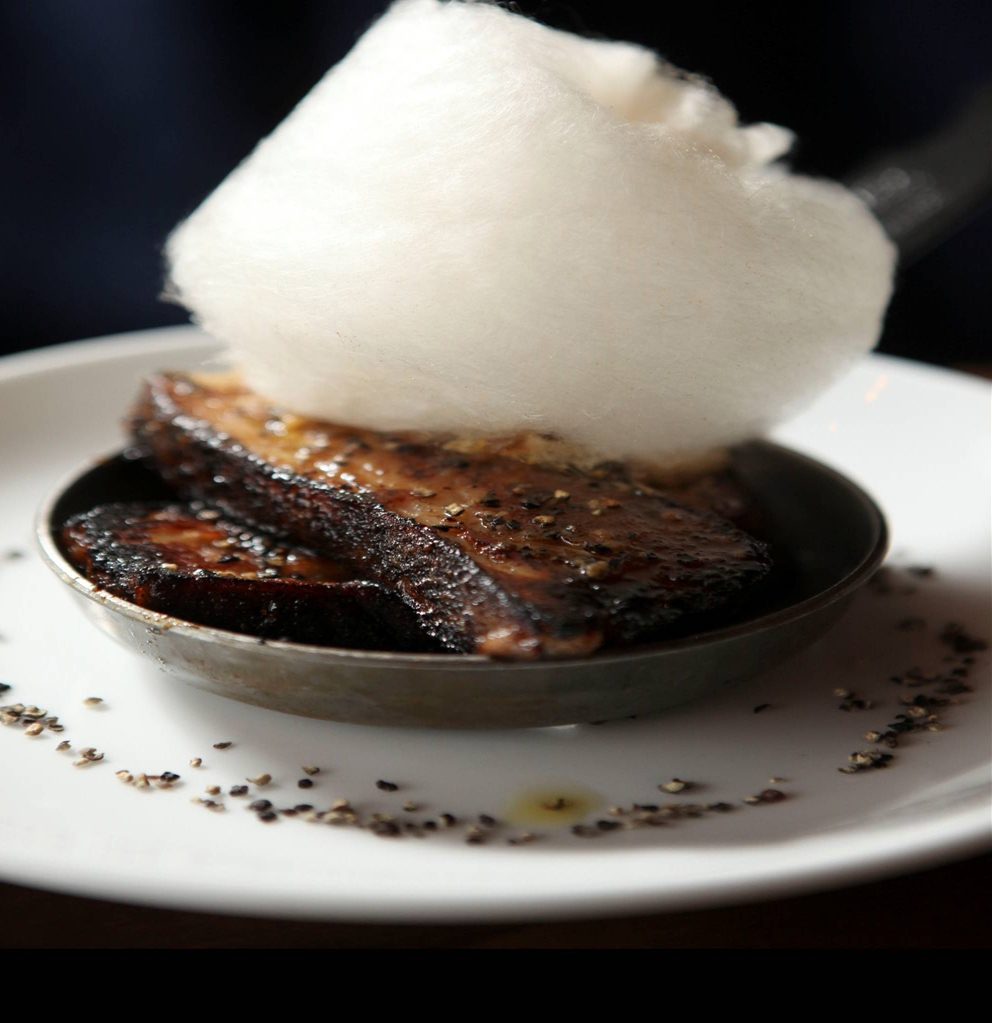 housemade-bacon-with-maple-cotton-candy-at-kayne-prime